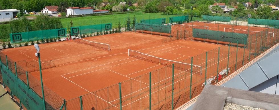 Venkovní antukové tenisové dvorce Vendryně