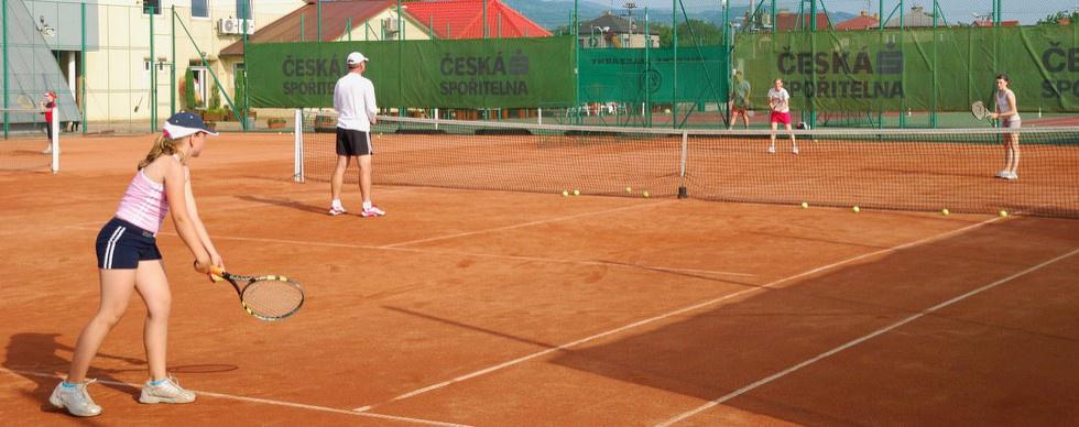 Tenisové antukové venkovní kurty Vendryně