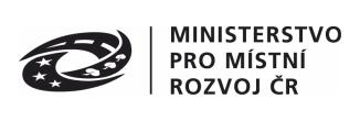 Logo MINISTERSTVO PRO MÍSTNÍ ROZVOJ